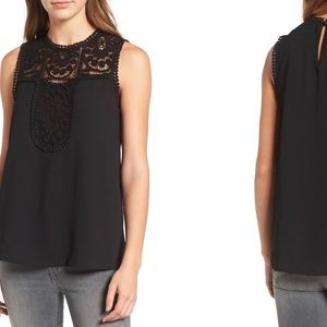 Halogen Tops - Nordstrom Halogen Lace & Crepe Top